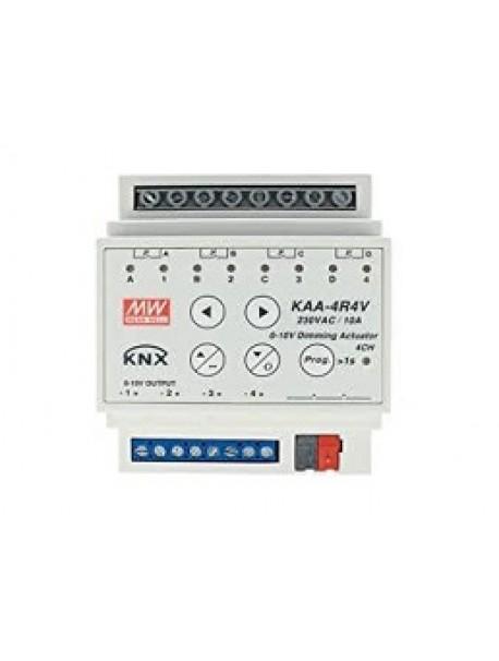 Attuatore Uscita con controllo 0-10V KNX KAA-4R4V-10