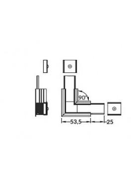 LINEA-IN20 Connessione a 90 gr anodizzato