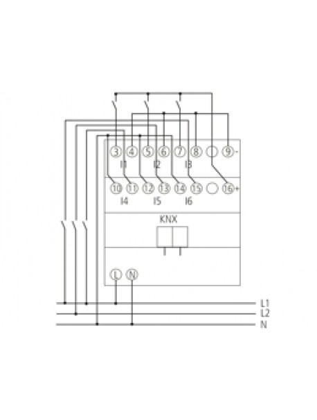 Ingresso Binario KNX BM 6 T KNX (4940230)