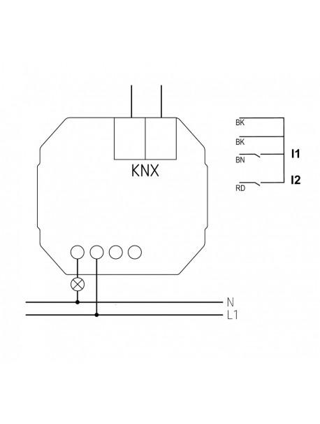Attuatore Uscita Binario da Incasso SU 1 KNX (4942520)