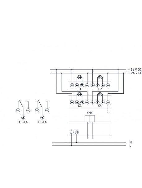 Attuatore Tapparella per motori 24VDC JMG 4T 24V KNX (4930260)