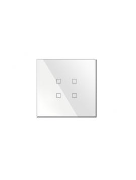 Pulsantiera KNX Kristal 4 Comandi Quadrata Bianca BX-Q04W
