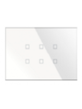 Pulsantiera KNX Kristal 6 Comandi Rettangolare Bianca BX-R06W