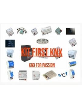 Pacchetto KIT FIRST KNX (Alimentatore + ragnetto + uscita  4 canali)