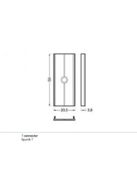 T Gancio di sostegno alluminio (2pz)