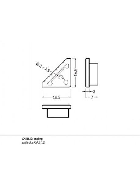 CABI12 Chiusura anodizzata (2 Pz)