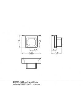 SMART-IN10 Chiusura con foro anodizzata (2pcs)