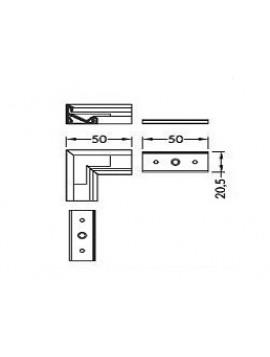 CORNER14 Connessione a 90 gr anodizzato
