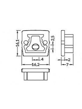 FLOOR12 Chiusura con foro anodizzata (2pz)