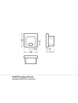 SMART10 Chiusura con foro anodizzata (2pz)