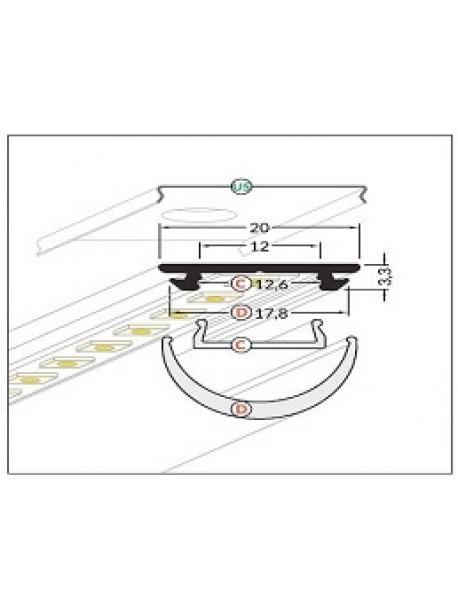 ARC12 Profilo Anodizzato 2 Metri