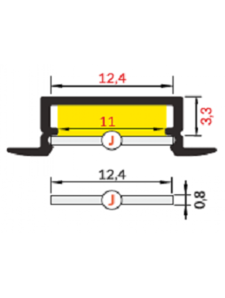 BEGTIN12 Profilo Anodizzato 2 Metri