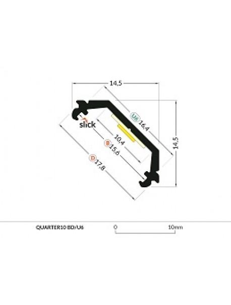 QUARTER10 Profilo Anodizzato 2 Metri