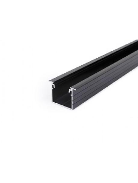 LINEA-IN20 Profilo anodizzato nero