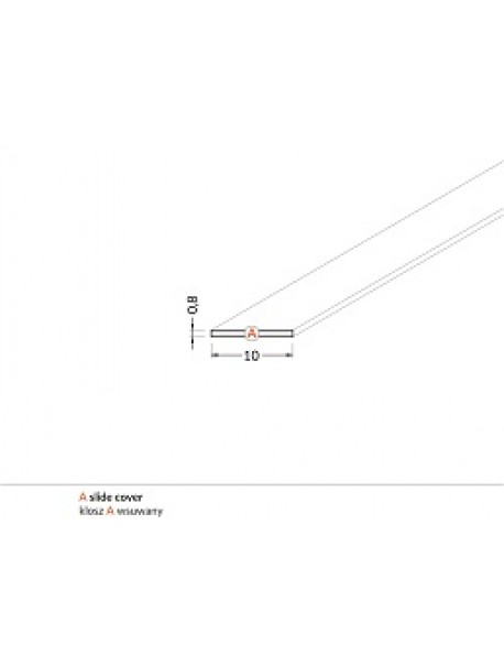 Diffusore Tipo A prismatizzato 2 metri