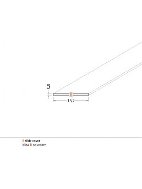Diffusore Tipo B prismatizzato 2 metri