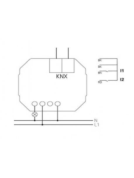 Attuatore Dimmer KNX da Incasso DU 1 KNX (4942570)