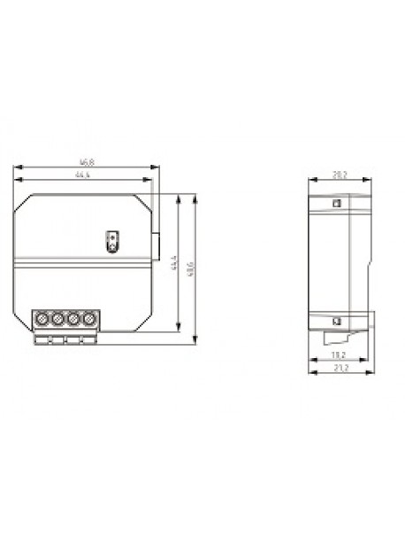 Interfaccia Ingressi RF da Incasso TU 4 RF KNX (4961604)