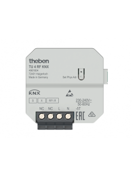 Interfaccia Ingressi RF da Incasso TU 4 RF KNX (4961604)